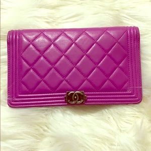 Pink Chanel wallet